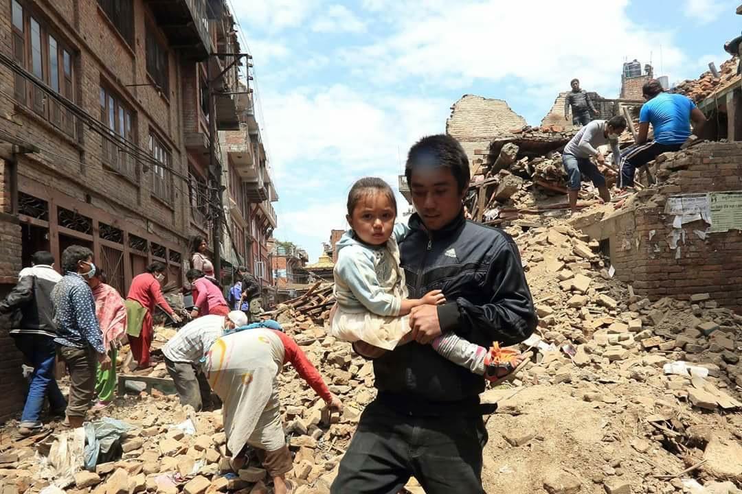 ネパール地震写真4(2015.5.6ダカル